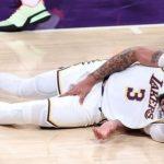 【NBA】系列赛比分2-2平手!浓眉伤退,湖人队G5全看詹姆斯发挥