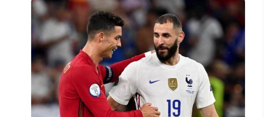 【欧洲杯】葡法大战最温馨画面!C罗指挥本泽马传球,没想到他真传了!